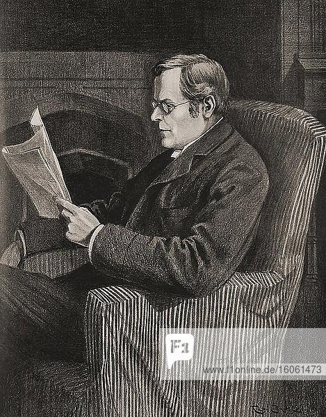 Augustine Birrell  1850-1933. Englischer Politiker  Anwalt  Akademiker und Autor. Von 1907 bis 1916 war er Chefsekretär für Irland. Ab der Ausgabe vom Mai 1907 von The Graphic  einer wöchentlich erscheinenden illustrierten Zeitung  die von 1869 bis 1932 in London herausgegeben wurde.