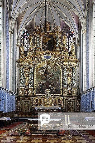 Altar  Stiftskirche  Stift Göttweik  früher Köttwein  Kloster  Benediktinerabtei  UNESCO Weltkulturerbe  Gemeinde Furth  nahe Krems  Wachau  Niederöstereich  Östereich
