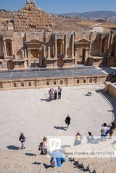 Asia  Middle East  Jordan  Jerash Archeological City  south theatre
