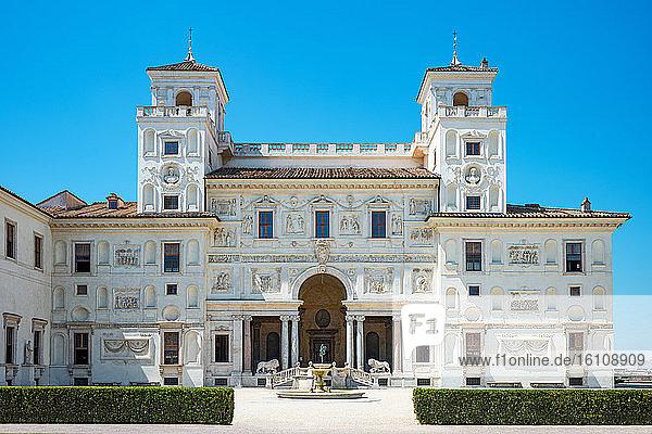 Rome  Italy  Academy of France  Villa Medici  view of the facade overlooking the garden