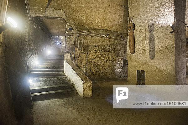 Europe  Italy  Campania  Naples  S. Lorenzo district  underground Naples in Piazza San Gaetano.