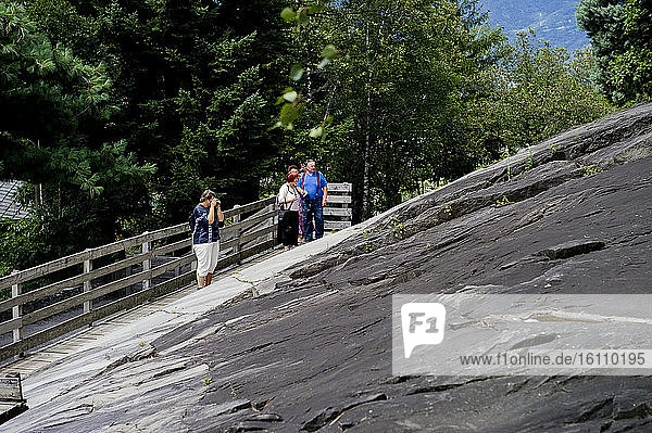 Italy  Lombardy  National Park of the petroglyphs of Naquane Capo di Ponte  Valcamonica