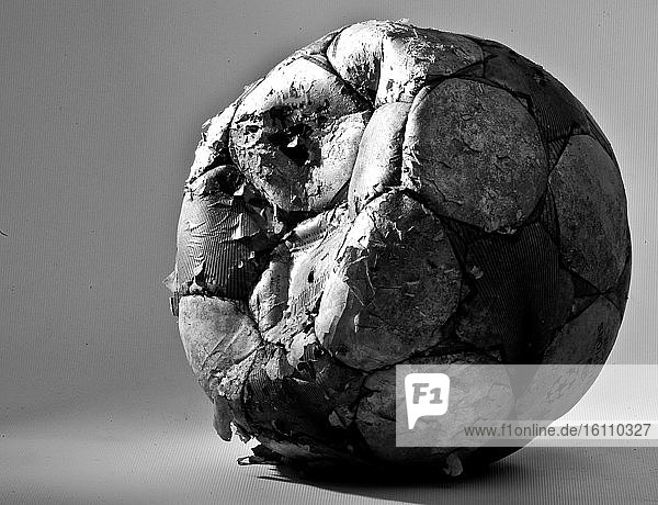 Damaged soccer ball