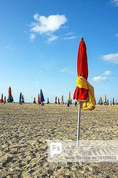 The beach of Deauville  Normandy  France
