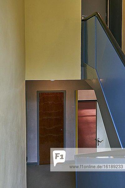 Meisterhaus von Walter Gropius  Treppenhaus von Paul Klee  Meisterhäuser  Dessau  Sachsen-Anhalt  Deutschland  Europa