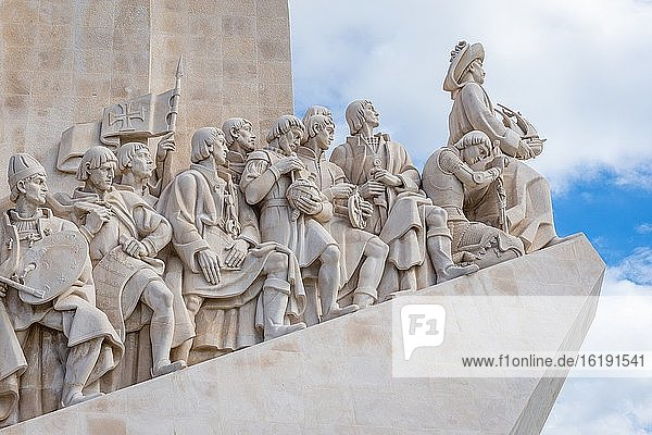 Padrao dos Descobrimentos - Monument of the Discoveries on the northern bank of the Tagus River estuary in Lisbon  Portugal.