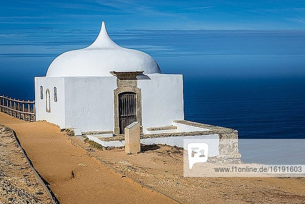 Hermitage at Cabo Espichel cape on the western coast of civil parish of Castelo  Setubal District in Portugal.