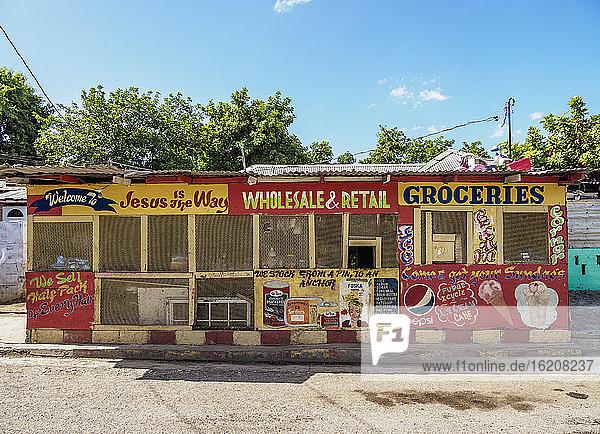 Geschäft in Trench Town  Kingston  St. Andrew Parish  Jamaika  Westindische Inseln  Karibik  Mittelamerika