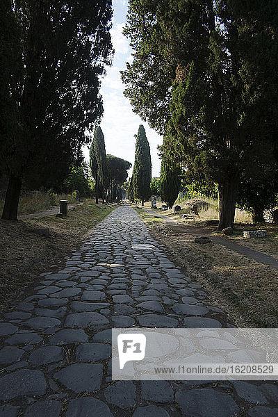 Die Via Appia  die einst Rom mit Brindisi  Rom  Latium  Italien und Europa verband