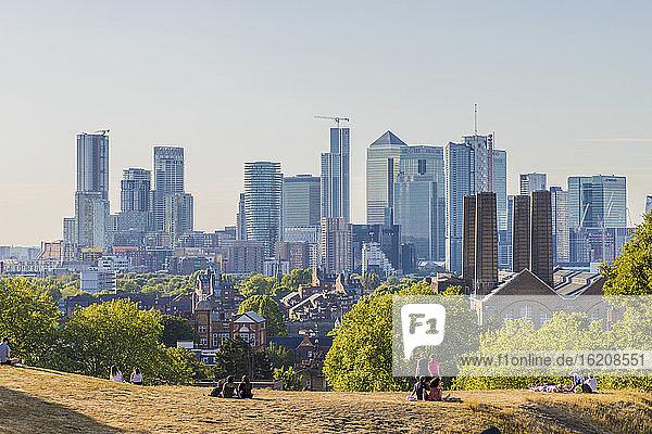 Canary Wharf Stadtbild  Greenwich  London  England  Vereinigtes Königreich  Europa