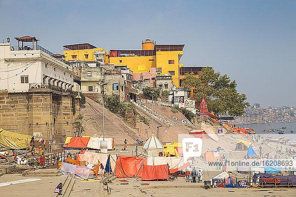 Manikarnika Ghat  Varanasi  Uttar Pradesh  Indien  Asien