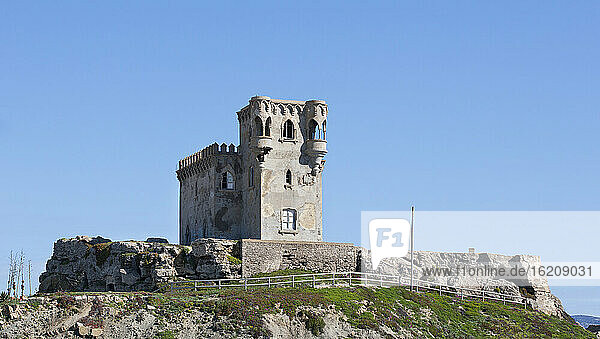 Spain  View of Castle of Santa Catalina