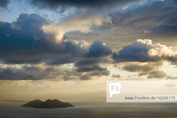 Greece  Ionian Sea  Ithaca  Thunder clouds