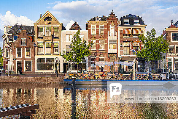 Netherlands  South Holland  Leiden  Old houses by Turfmarkt