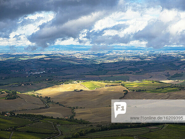 Italy  View of Tuscany from Montalcino