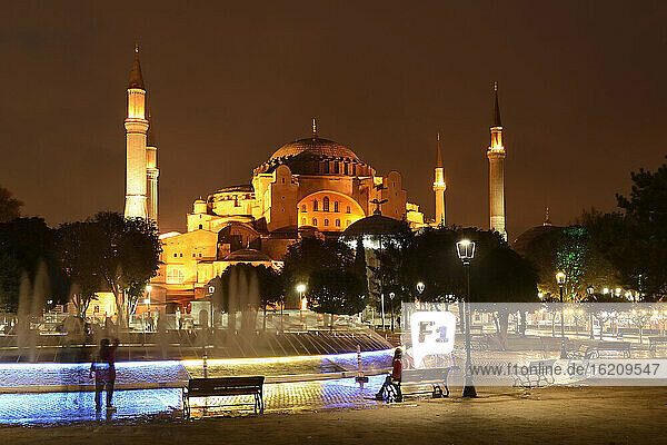 Turkey  Istanbul  View of Sultan Ahmed park