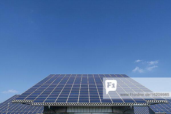 Germany  Bavaria  Solar panel at photovoltaic park