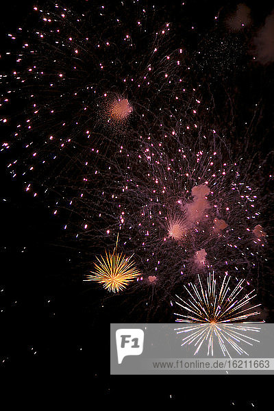 Night sky with Fireworks