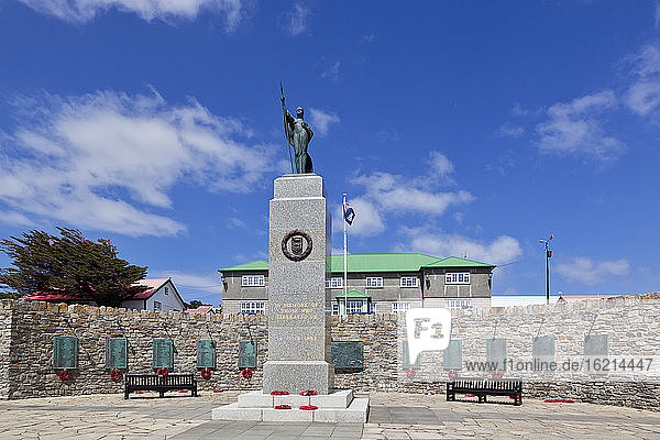 South Atlantic  United Kingdom  British Overseas Territories  East Falkland  Falkland Islands  Falklands  Stanley  Port Stanley  View of 1982 war memorial