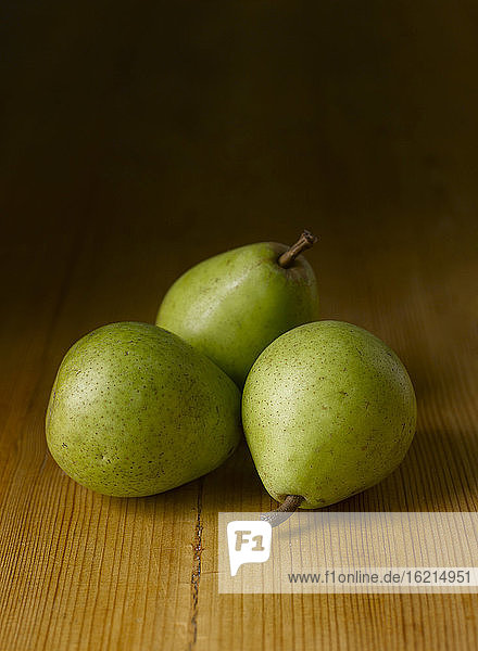 Frische grüne Birnen