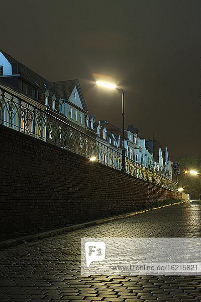 Deutschland  Bremen  Schnoorviertel bei Nacht