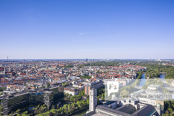 Aerial view of Munich  Bavaria  Munich