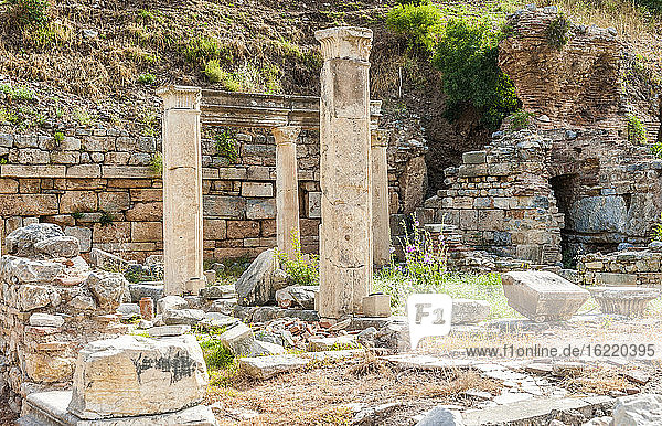 Turkey  province of Izmir  ancient Greek city of Ephesus (Roman port  role in the spread of Christianity with the councils of 431 and 449)  Basilica (1st century  used for stock market and commercial enterprises) (UNESCO W. H.)