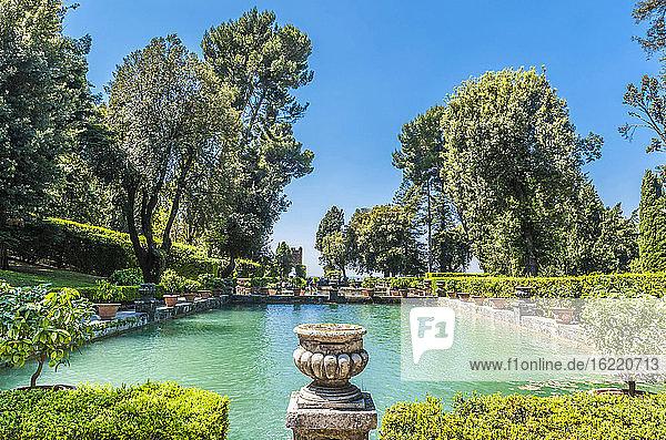 Italy  Lazio  Tivoli  lake of the gardens of the Villa d'Este (Renaissance) (UNESCO World Heritage Site)