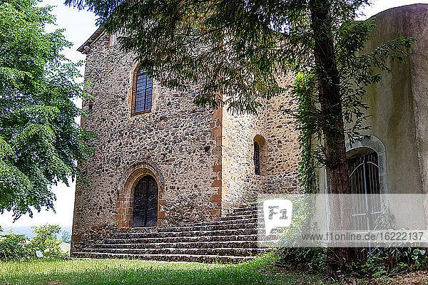 View of the Calvary Chapel  Castillon en Couserans  Ariege  Occitanie  France