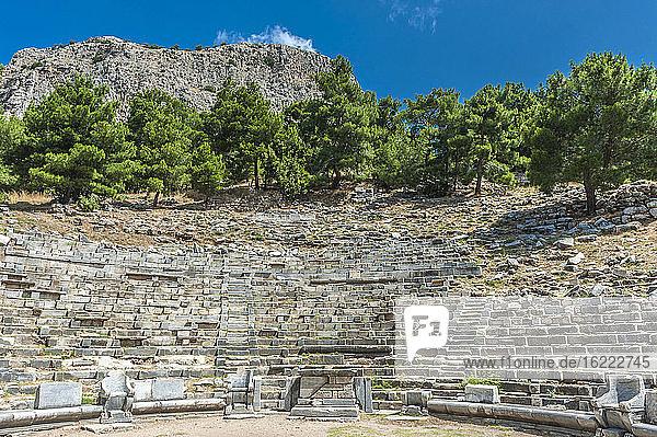 Türkei  Ionien  Priene H+Griechische Stadt  Theater (2. Jahrhundert) (UNESCO-Welterbe)