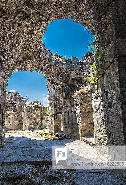 Turkey  Archeological site of the former city of Minor Asia  Pergamon (Bergama) (UNESCO World Heritage)  Asclepeion (Temple dedicated to Asclepius  2nd century)