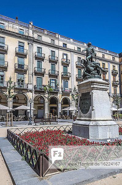 Spanien  Katalonien  Girona  plaza de Sant Agusti (de la Independencia)  Denkmal für die Verteidiger von Girona im Jahr 1809