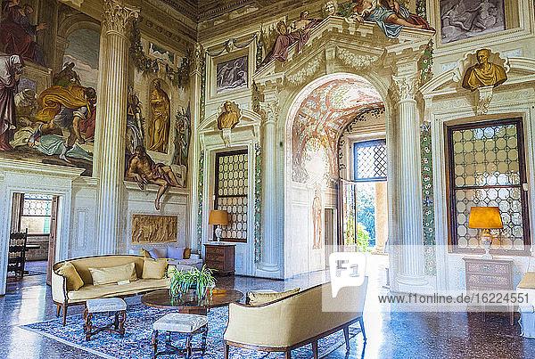 Italy  Veneto  Villa veneta Emo salon (16th century  by Andrea Palladio)