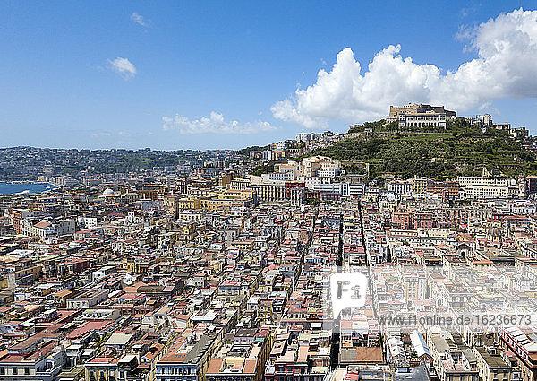 Luftaufnahme der Certosa di San Martino (Kartause von St. Martin)  Neapel  Kampanien  Italien  Europa