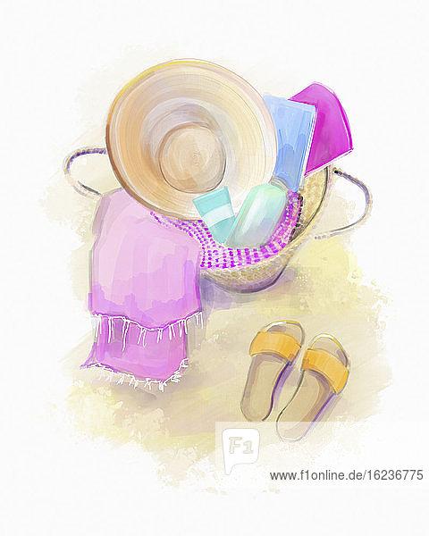 Weibliche Strand-Accessoires