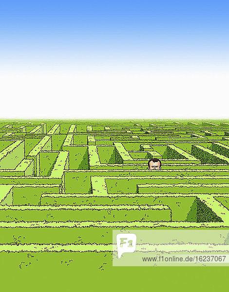Mannverloren im Labyrinth