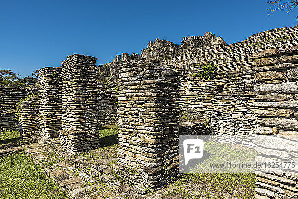 Tonina  pre-Columbian archaeological site and ruined city of the Maya civilization; Chiapas  Mexico