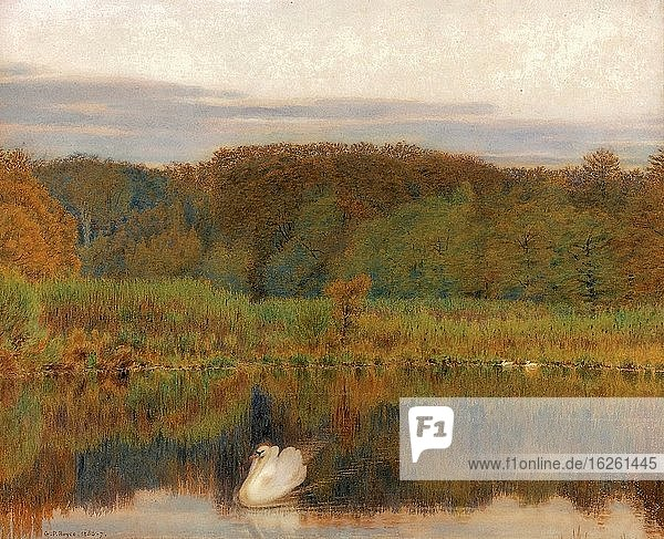 Boyce George Price - Abinger MILL-Pond Surrey - Morning in Late Autumn - British School - 19th Century.