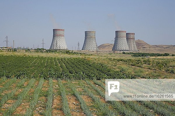 The ANEP nuclear power plant at Metsamor 35 km outside Yerevan  Armenia. Housing and agriculture are located around the facility. Should an accident similar to the one in Chernobyl happen here  the whole of Armenia would have to be evacuated.
