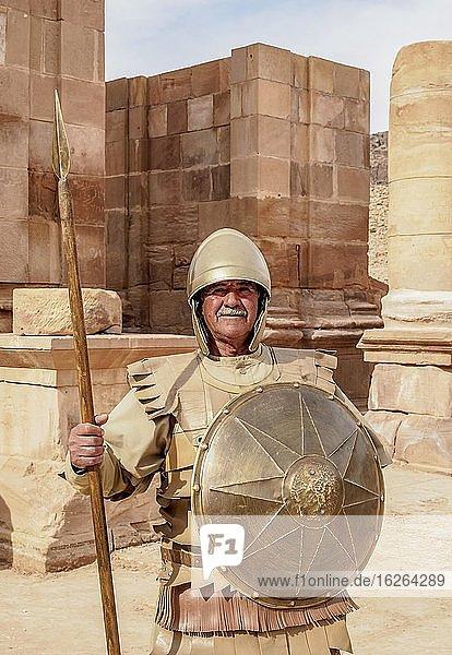 Nebatean Soldier  Petra  Ma'an Governorate  Jordan  Asia