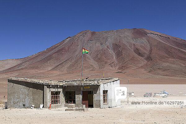 Border Bolivia Chile  Atacama Desert  Hito Cajon