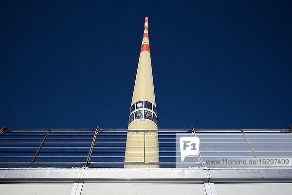 Switzerland  Canton of Appenzell Ausserrhoden  transmitter mast on Saentis mountain