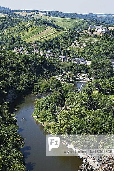 Germany  Rhineland-Palatinate  Bad Munster am Stein-Ebernburg  Ebernburg at Nahe river