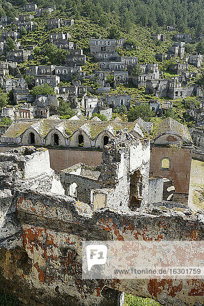 Turkey  Mugla  Fethiye  Ghost town of Kayakoy