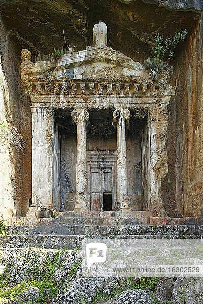 Turkey  Fethiye  View of Lycian Rock Tomb of Amyntas