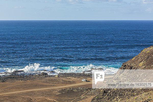 Spain  Las Palmas  Gran Canaria  Punta del Confital  View of Atlantic Coast