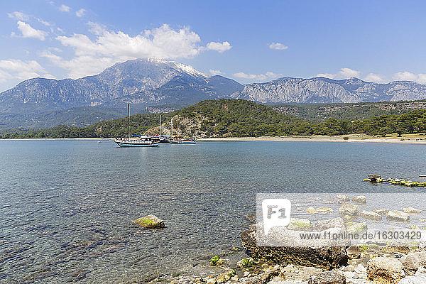 Turkey  Lycia  Olympos National Park  view over coast