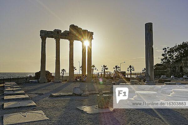Turkey  Side  Temple of Apollo at sunset