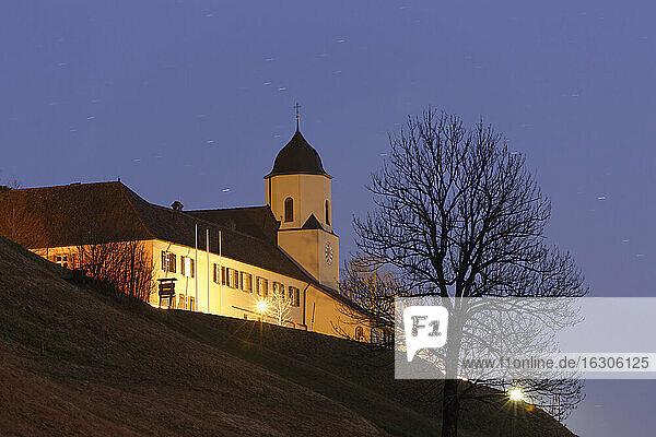 Austria  Vorarlberg  Viktorsberg  view to building on hill  formerly monastery