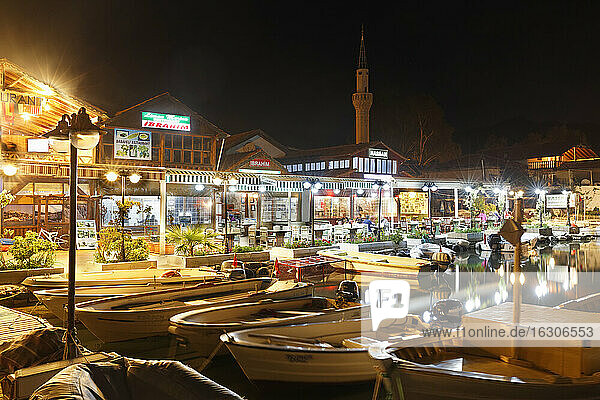 Turkey  Lycia  Lycian Coast  Demre  Kalekoey  Acagiz by night